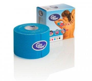 CureTape Classic Kinesiology Tape Blue 5cm