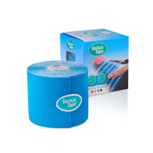 VetkinTape kinesiology tape 6cm blue single roll