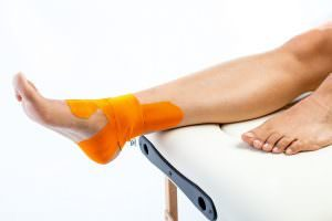 ankle stability kinesiology tape